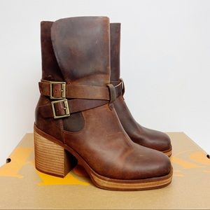 Kork-Ease Moto-Chic Meegan Brown Boots 8 NWB
